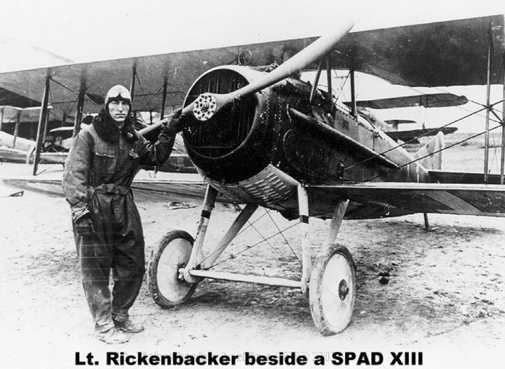 Click image for larger version.  Name:2.4.3. 12 32 Captain Edward Vernon Rickenbackers with a Spad 13.jpg Views:1 Size:167.9 KB ID:3668003