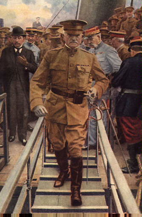Click image for larger version.  Name:2.4.3. 15 7 General Pershing arrives in Europe 1917.jpg Views:1 Size:98.4 KB ID:3668023
