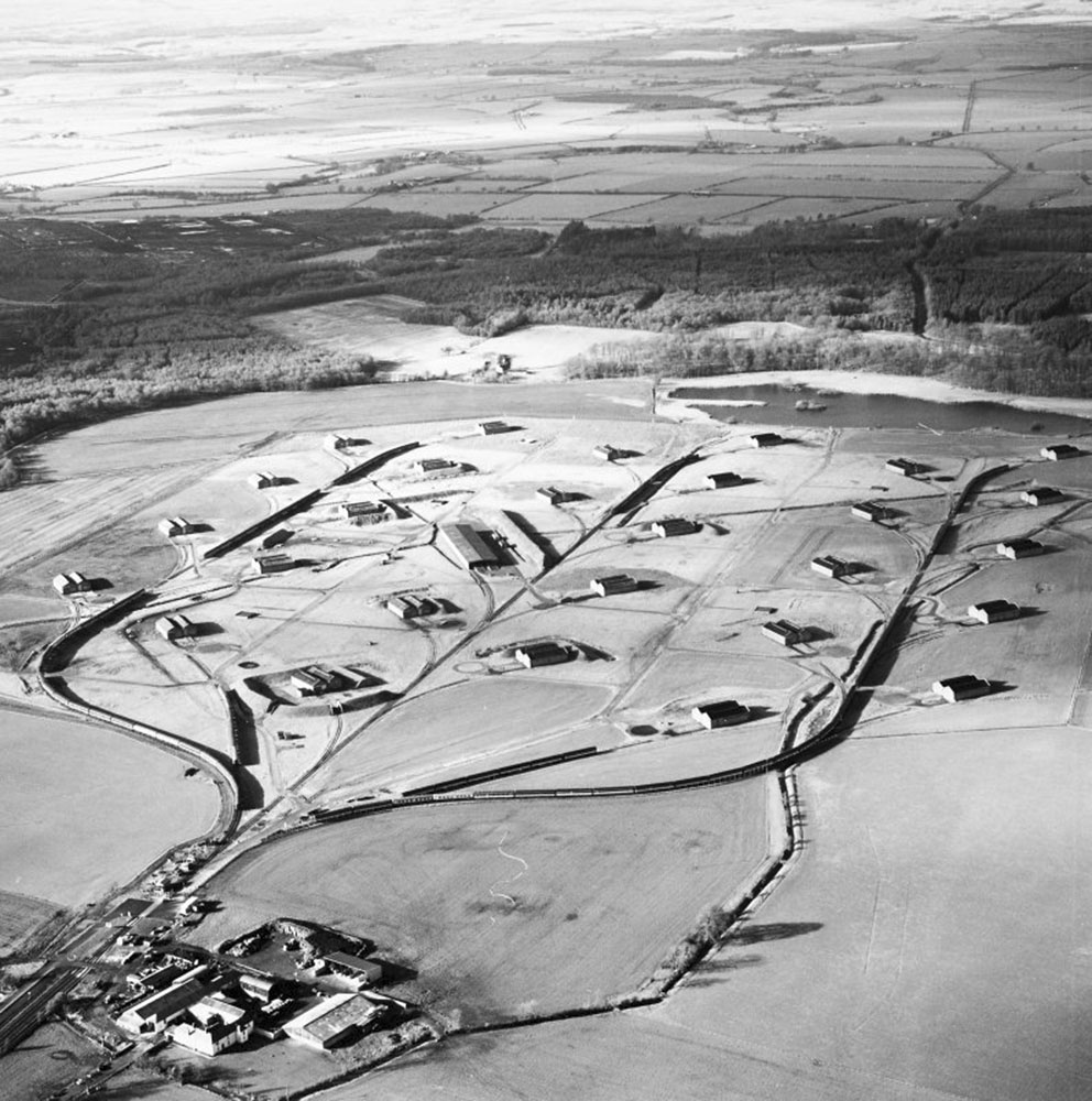 Click image for larger version.  Name:3. 1 1 WW1 Gretna, HM Factory, Longtown (site 2), oblique aerial view, taken from the SE.jpg Views:1 Size:219.2 KB ID:3668347