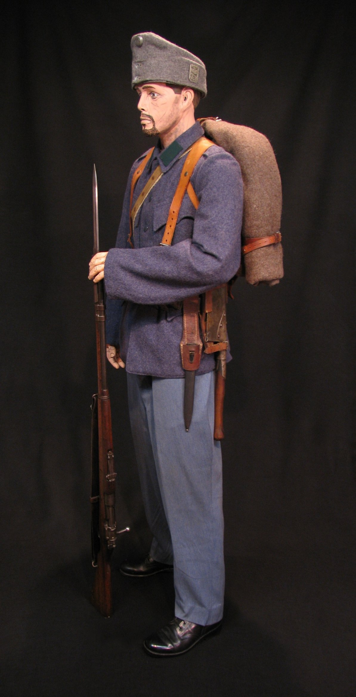 Click image for larger version.  Name:A-H Infantry Circa 1916 w M1912 Mauser 11R.jpg Views:15 Size:301.7 KB ID:651769