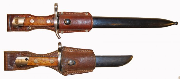Click image for larger version.  Name:bayonet m28-30 and m42 sheathed.jpg Views:11 Size:28.9 KB ID:625828