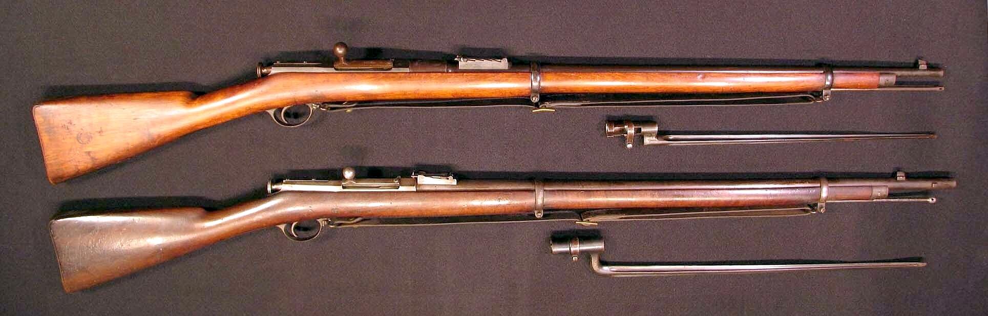 Click image for larger version.  Name:Berdan Three-Line Rifle top & Berdan II 7AR.jpg Views:5 Size:735.5 KB ID:2309586