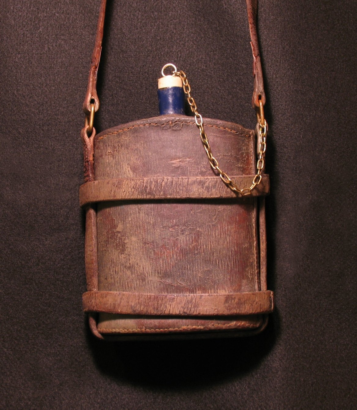 Click image for larger version.  Name:British P14 Leather Covered Water Bottle 02R.jpg Views:8 Size:305.8 KB ID:780644