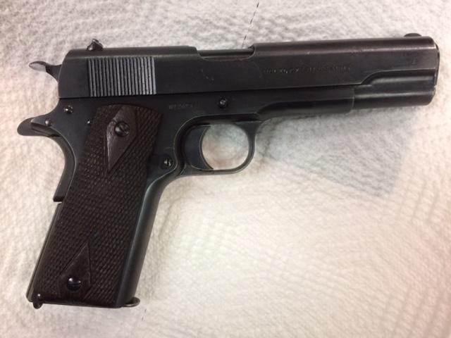 Colt M1911 WWI era serial number font ADDITIONAL