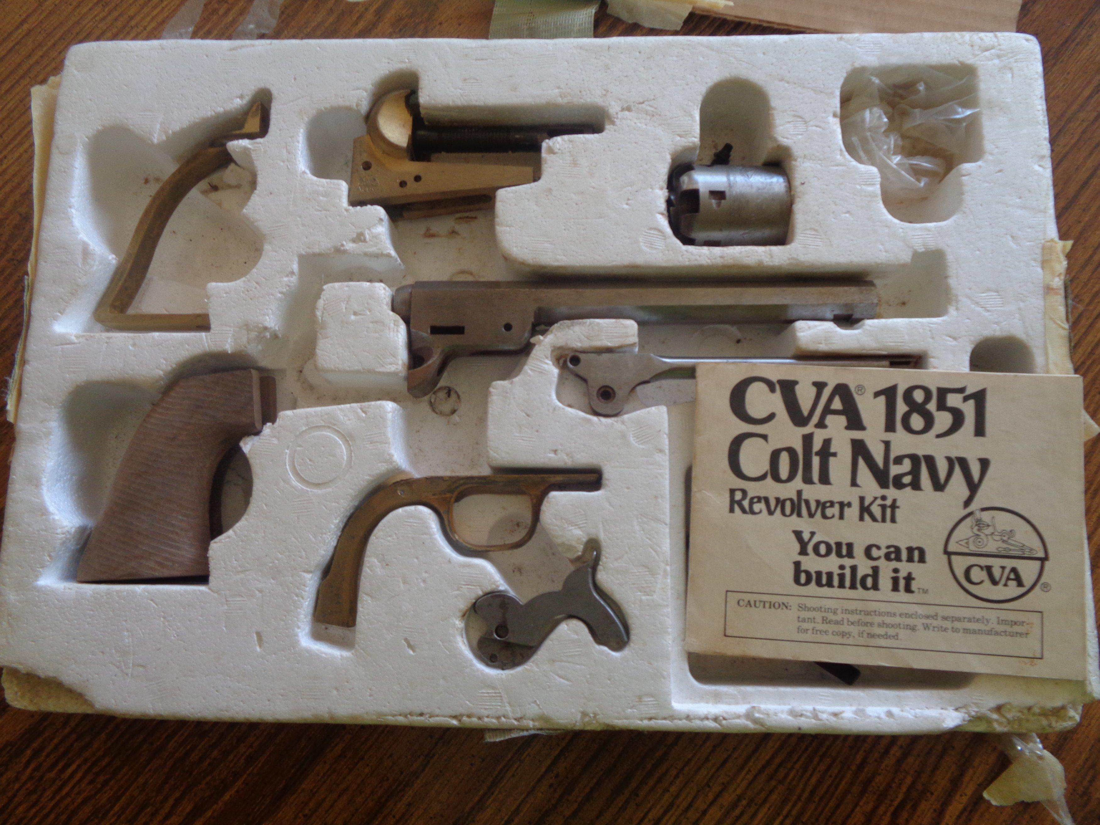 SOLD CVA Replica Colt 1851 36cal blackpowder revolver Kit new
