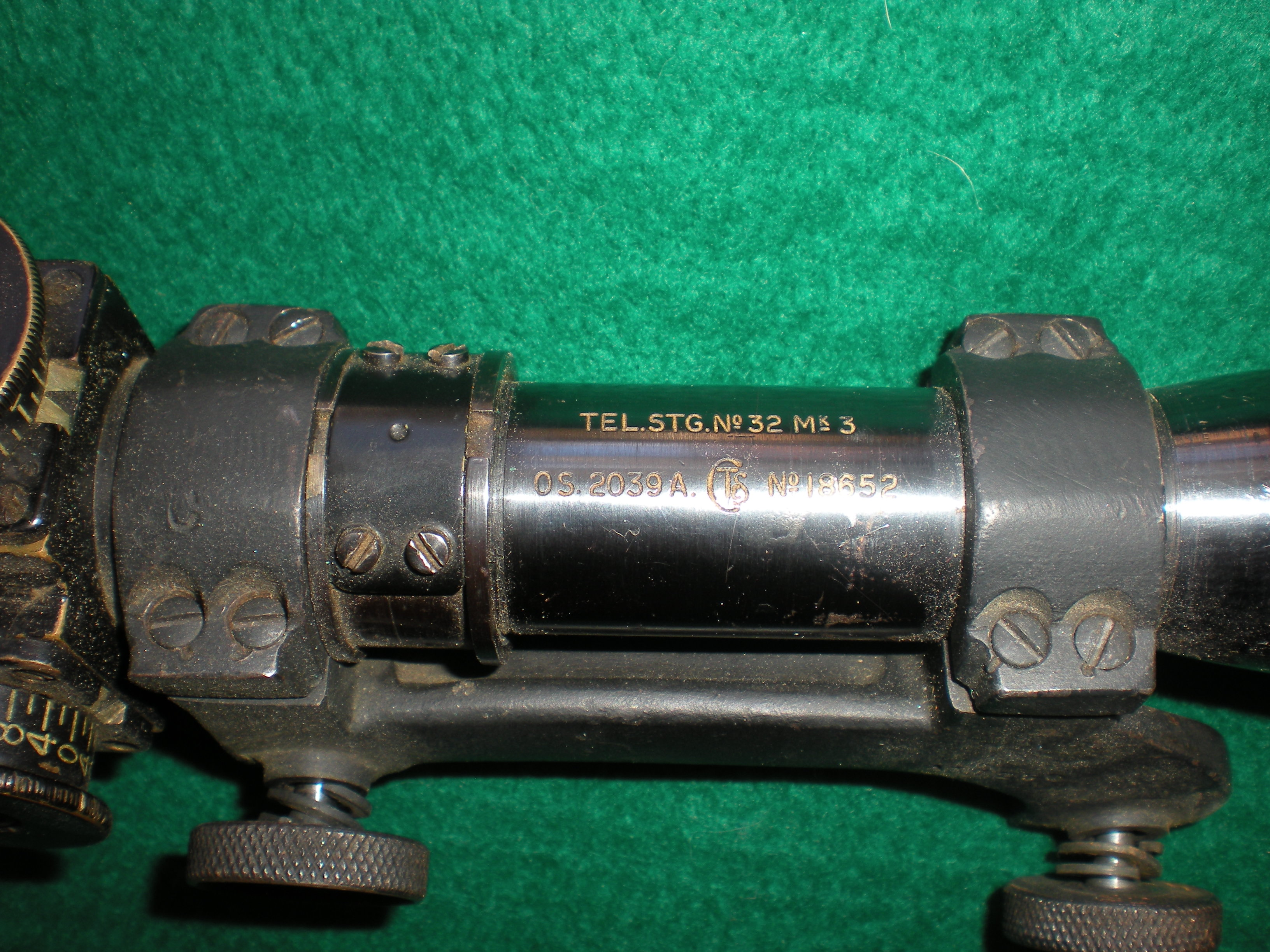WTS: No 4T British WWII No 32 Mk3  Sniper scope and mount