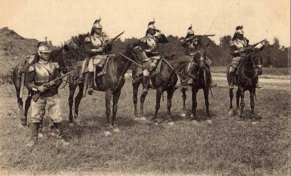 Click image for larger version.  Name:Fr Cuirassiers a cheval.jpg Views:8 Size:291.2 KB ID:972147