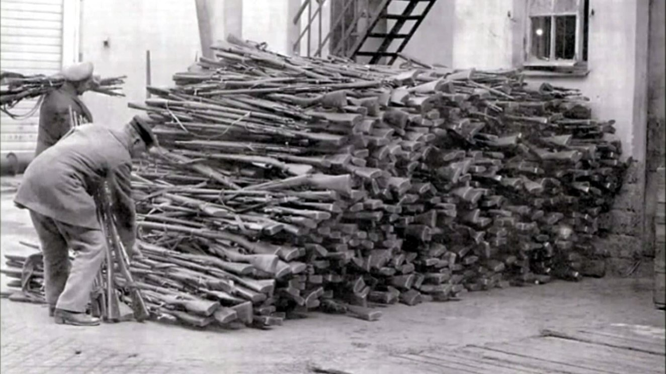 Click image for larger version.  Name:Germans stack captured M1891 Three-Line Rifles.jpg Views:8 Size:162.1 KB ID:2064618