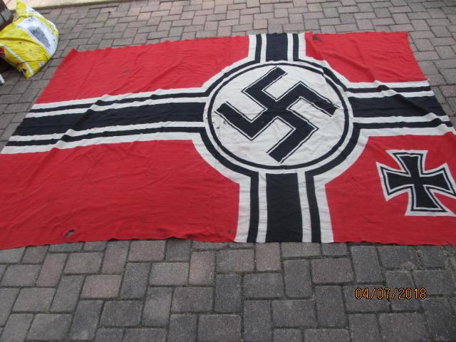 WTS WWII German Battle Flag ORIGINAL wool