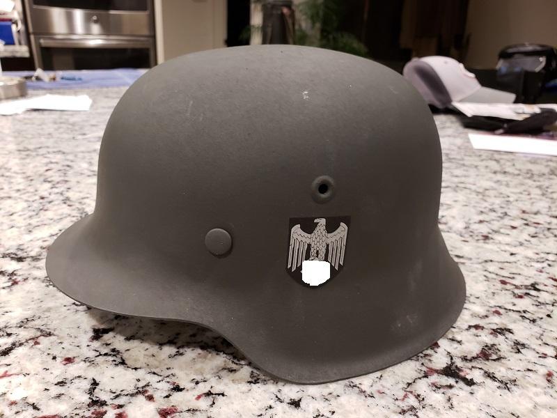 professionally refurbished German M42 helmet 68/61