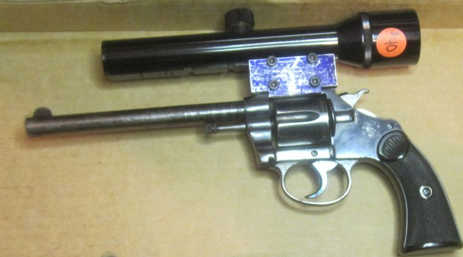 Click image for larger version.  Name:Police Positive Colt 32 S&W long revolvers 1907 with repaired forcing cone 2-24-2012.jpg Views:4 Size:66.1 KB ID:576067