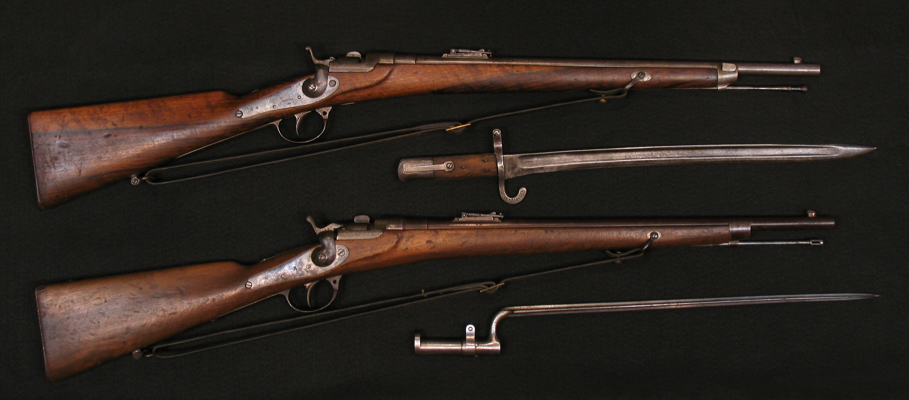 Click image for larger version.  Name:Werndl Carbines 67 E-K-Gew w Bayonets R-3a.jpg Views:2 Size:2.27 MB ID:3708383