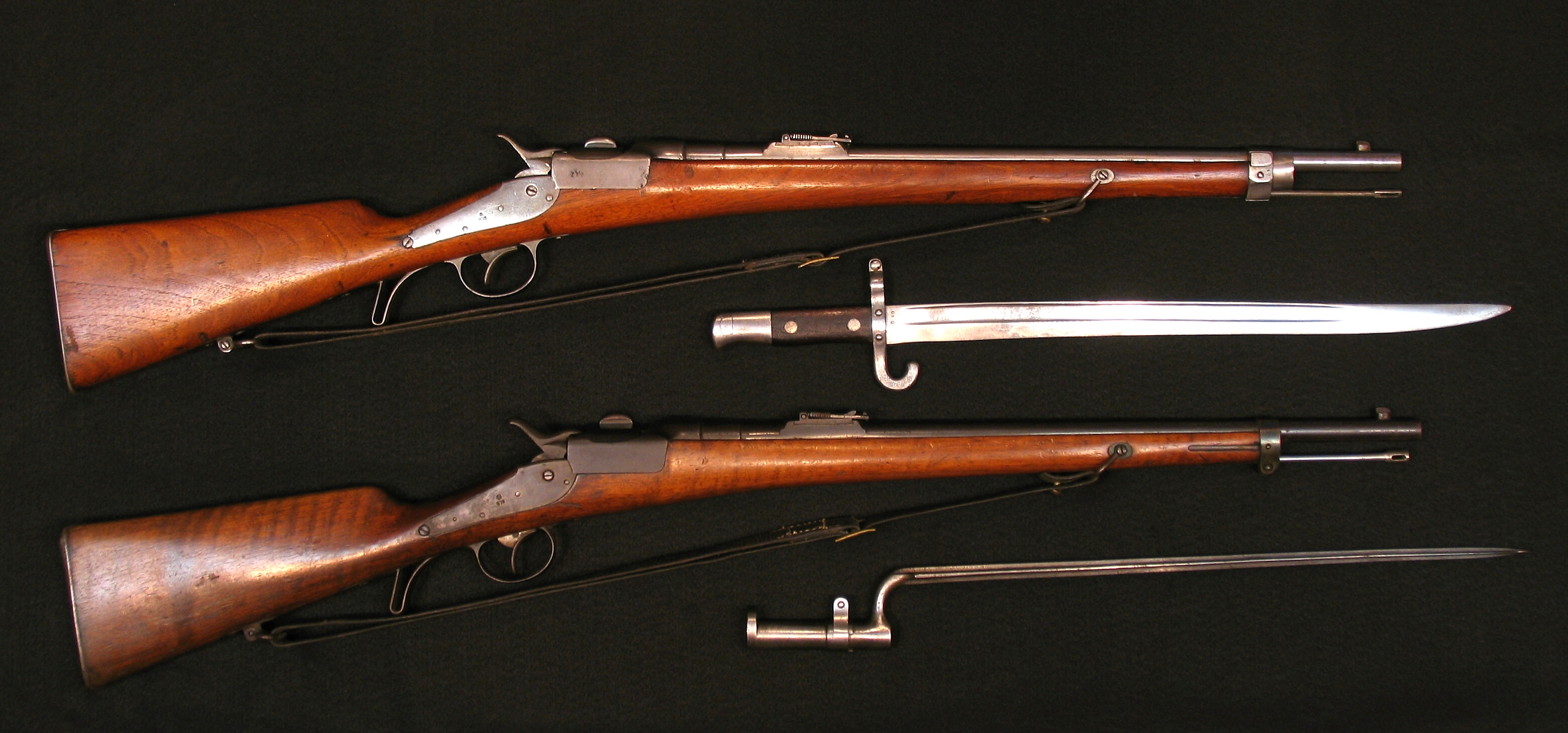 Click image for larger version.  Name:Werndl Carbines 73 E-K-Gew w Bayonets R-5a.jpg Views:1 Size:2.86 MB ID:3708387